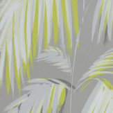 Matthew Williamson Tropicana Metallic Silver & Yellow Wallpaper
