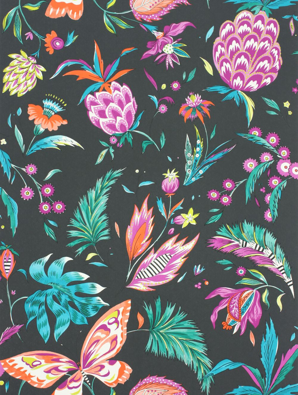 Matthew Williamson Habanera Cacao, Fuchsia & Bright Orange Wallpaper main image