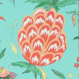 Matthew Williamson Habanera Jade, Coral & Lavender Wallpaper
