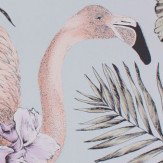 Matthew Williamson Flamingo Club Matt Silver, Lilac & Lemon Wallpaper