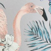 Matthew Williamson Flamingo Club Matt Lavender, Ivory & Electric Blue Wallpaper