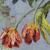 Designers Guild Tulipani Graphite Wallpaper