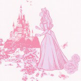 Kids @ Home Princess Toile Pink Wallpaper