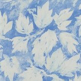 Designers Guild Fresco Leaf Indigo Wallpaper