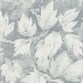 Designers Guild Fresco Leaf Graphite Wallpaper
