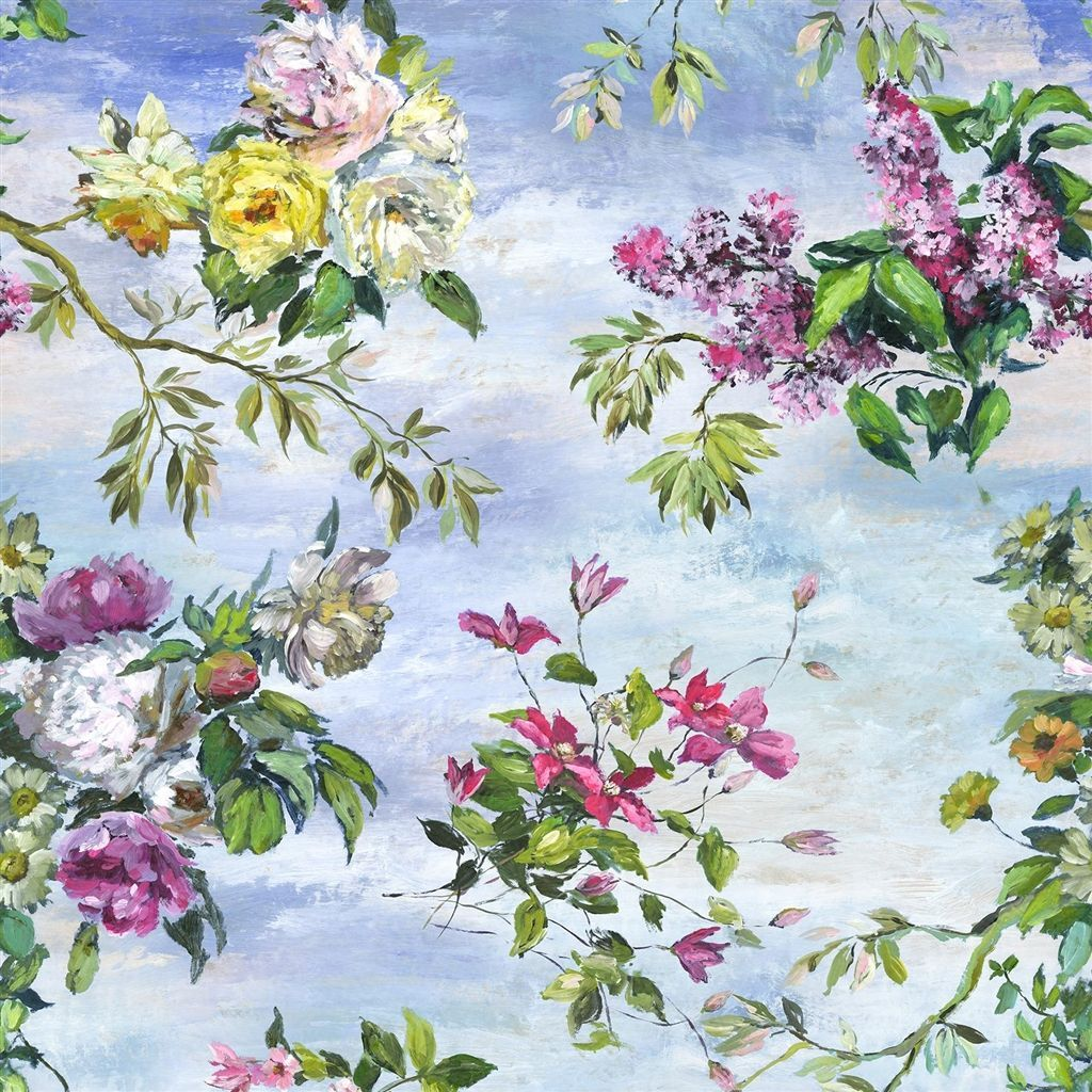 Caprifoglio - Panel Mural - Sky - by Designers Guild