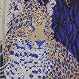 Matthew Williamson Leopardo Black, Electric Blue and Bronze Wallpaper