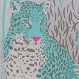 Matthew Williamson Leopardo Gilver, Jade and Cerise Wallpaper - Product code: W6805/04