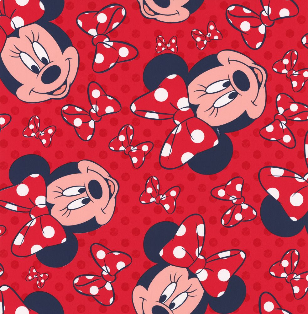 minnie red bow by kids home red wallpaper direct
