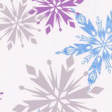 Kids @ Home Frozen Snowflake Purple, Blue, Silver and White Wallpaper