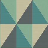 Cole & Son Apex Grand Teal  Wallpaper - Product code: 105/10045