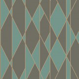Cole & Son Oblique Teal and Black Wallpaper - Product code: 105/11048