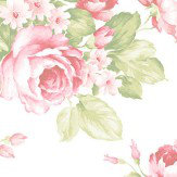 Galerie Rose Bouquet White Wallpaper