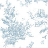 Galerie Toile China Blue Wallpaper
