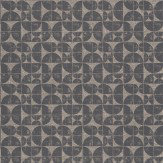 Ian Mankin Acton Charcoal Wallpaper