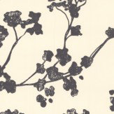 Ian Mankin Kew Baltic Charcoal Wallpaper