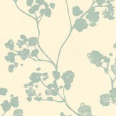 Ian Mankin Kew Baltic Mint Wallpaper