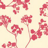 Ian Mankin Kew Baltic Peony Wallpaper