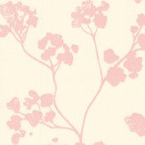 Ian Mankin Kew Baltic Pink Wallpaper