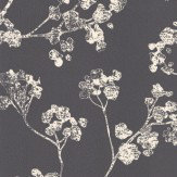 Ian Mankin Kew Charcoal Wallpaper