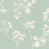 Ian Mankin Kew Mint Wallpaper