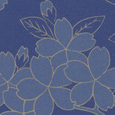 Little Greene Camellia Smalt Wallpaper