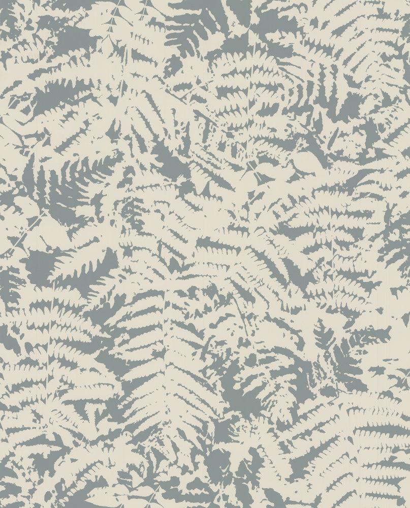Little Greene Fern Sage Blue Wallpaper main image