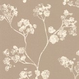 Ian Mankin Kew Oatmeal Wallpaper