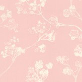 Ian Mankin Kew Pink Wallpaper