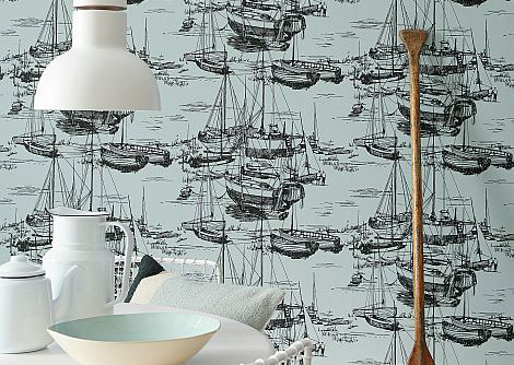 Little Greene Zingara Cerulean Sea Wallpaper