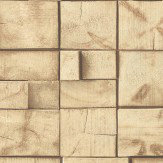 Albany Small Wooden Blocks Natural Wallpaper