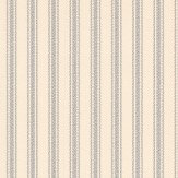 Ian Mankin Ticking 01 Grey Wallpaper