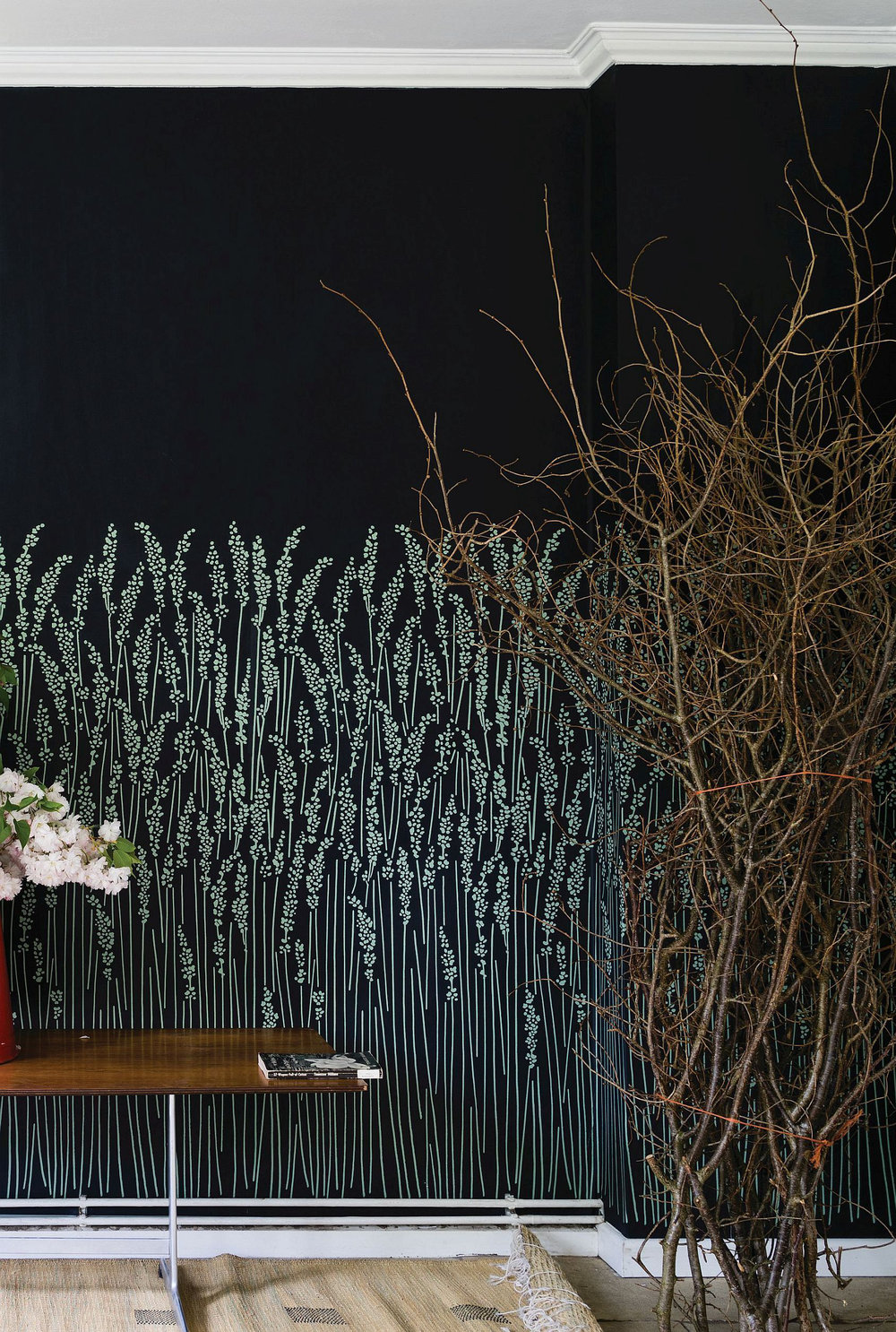 Farrow & Ball Feather Grass Black Wallpaper - Product code: BP 5106
