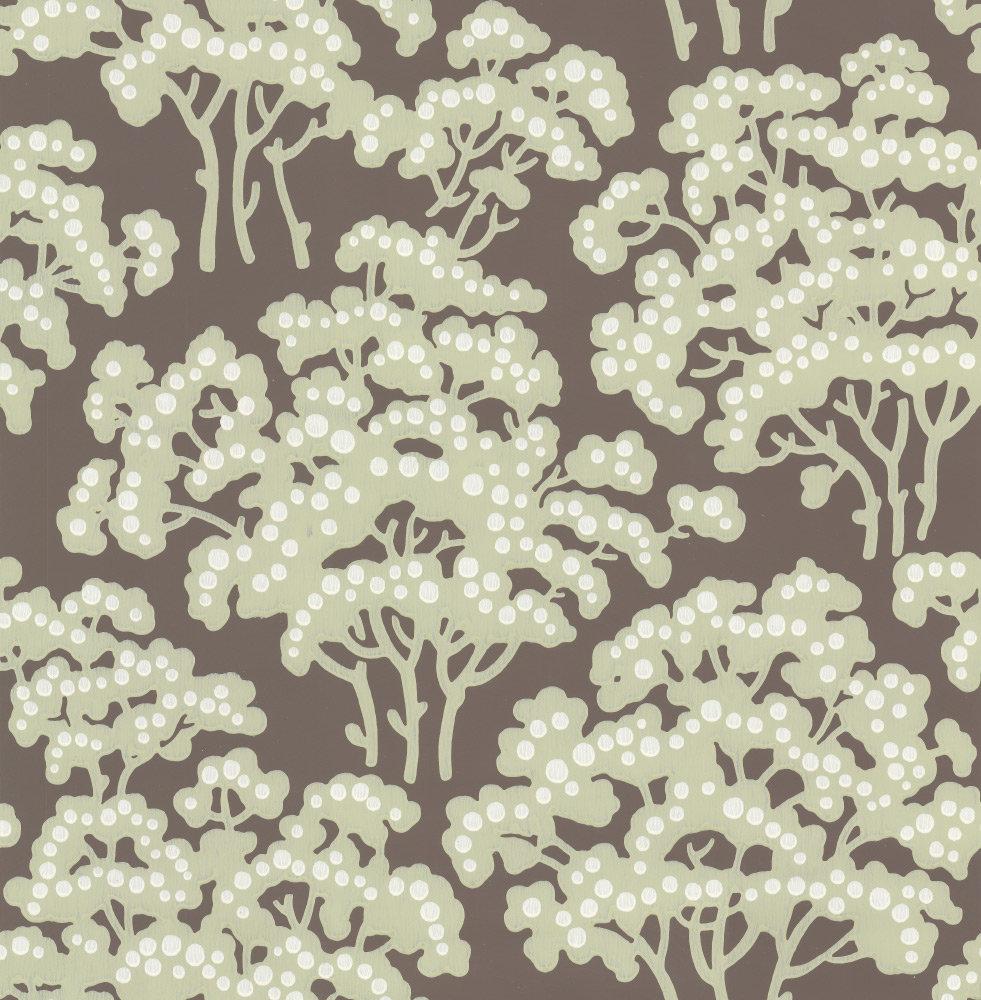 Farrow & Ball Hornbeam Chocolate Brown Wallpaper - Product code: BP 5005