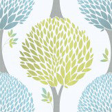 Galerie Tempo Tree Lime Green Wallpaper - Product code: G56375