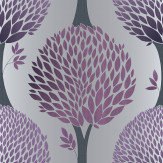 Galerie Tempo Tree Purple Wallpaper