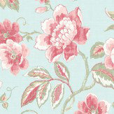 Galerie Jacobean Trail Duck Egg Blue Wallpaper