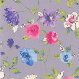 Galerie Bold Floral Purple Wallpaper