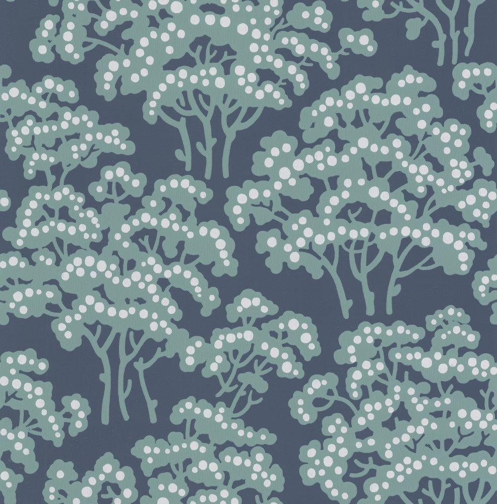 Farrow & Ball Hornbeam Dark Blue Wallpaper - Product code: BP 5007