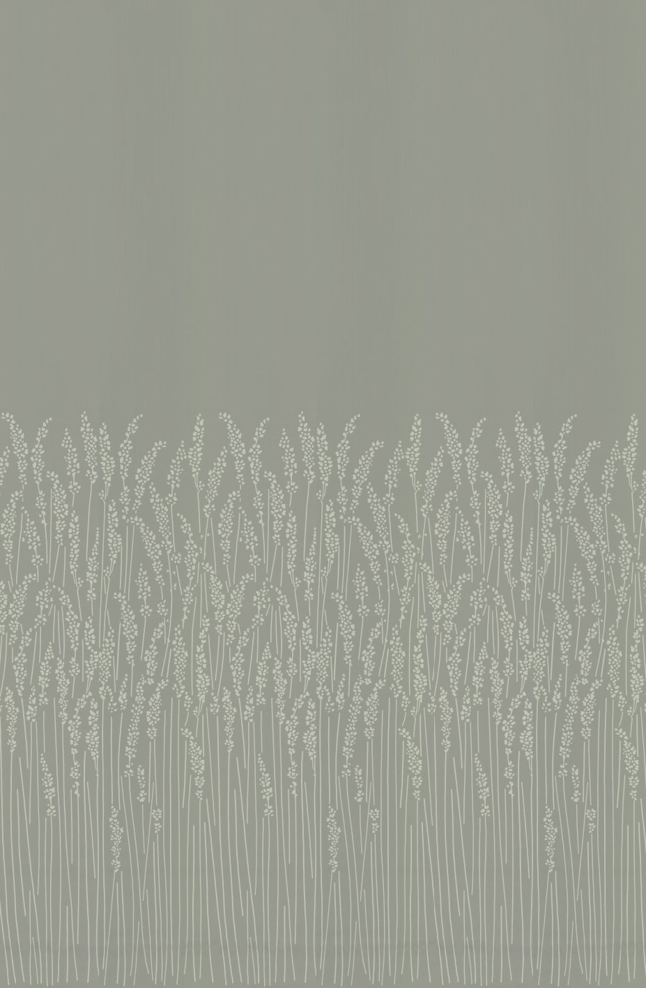 Feather Grass Wallpaper - Dark Grey - by Farrow & Ball