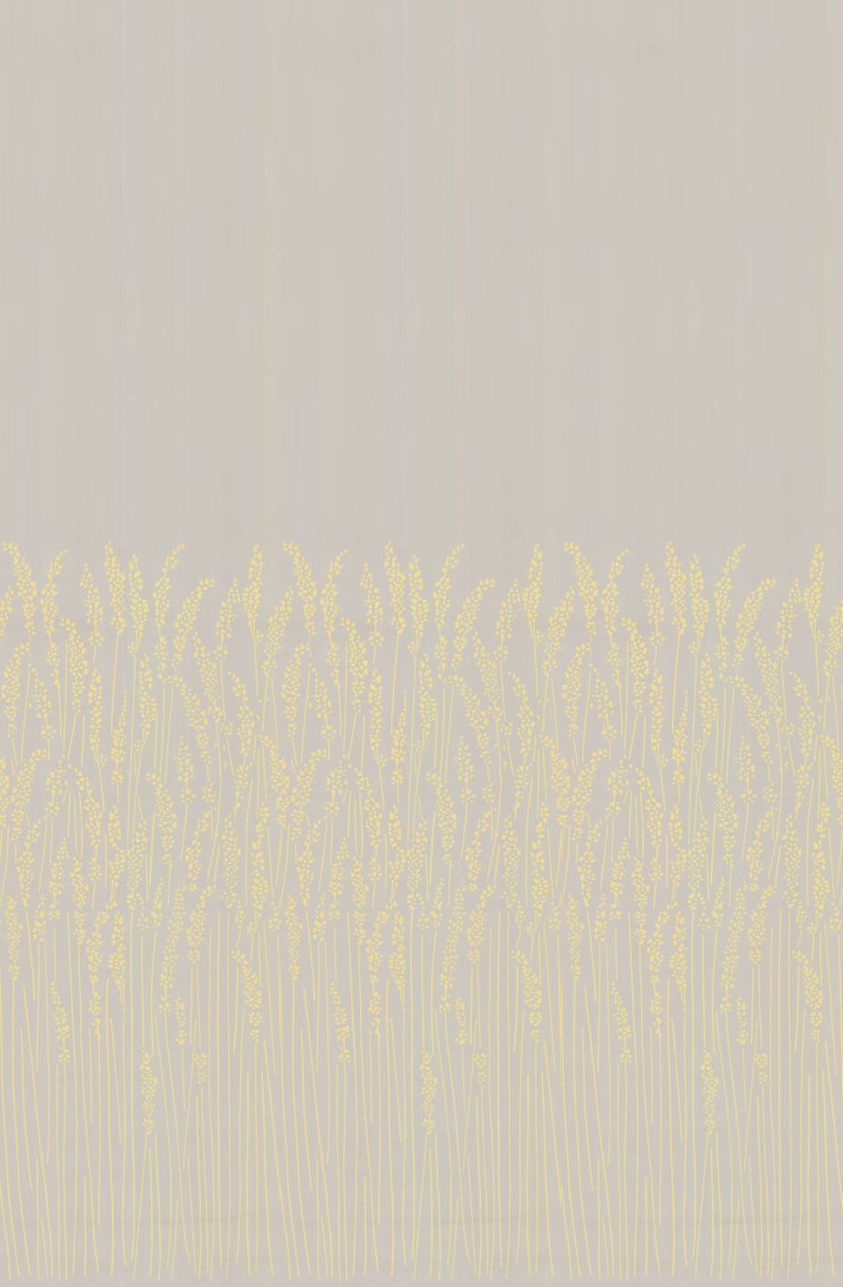 Feather Grass Wallpaper - Pale Yellow - by Farrow & Ball