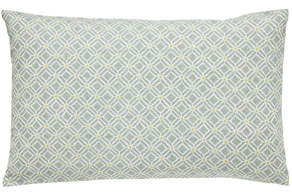 Sanderson Wisteria Blossom Housewife Pillowcase Linden & Charcoal main image