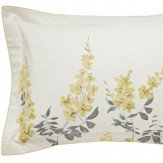 Sanderson Wisteria Blossom Oxford Pillowcase Linden & Charcoal