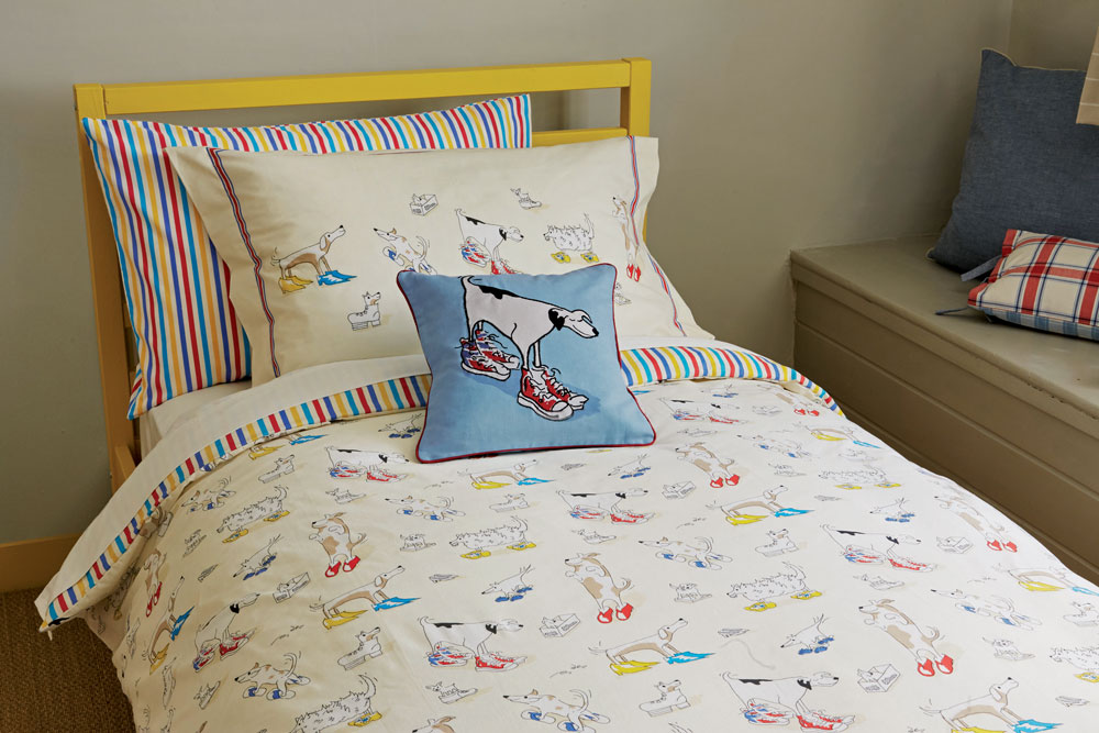 Sanderson Dogs in Clogs Duvet Set Duvet Cover extra image