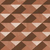 Coordonne Caleidoscopical Diamond Red Brown Mural - Product code: 4500091N