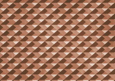 Image of Paper Moon Murals Caleidoscopical Diamond Red, 4500091