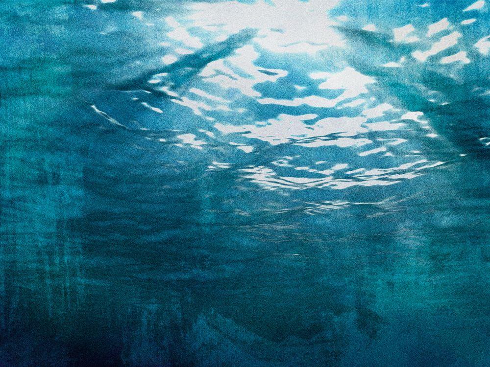 Continue en Route Underwater Mural - Blue - by Coordonne