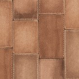 Albany Leather Effect Russet Wallpaper