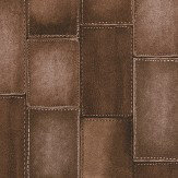 Albany Leather Effect Brown Wallpaper