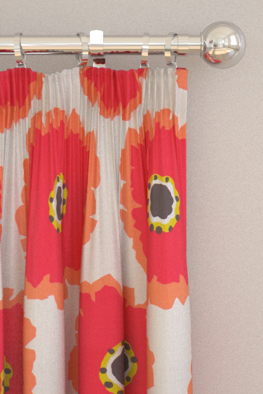 Sanderson Papavera Chalk / Coral Curtains - Product code: 224611